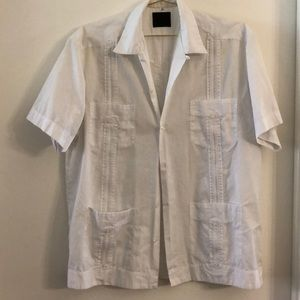 Other - Vintage white shirt with button & pintuck details